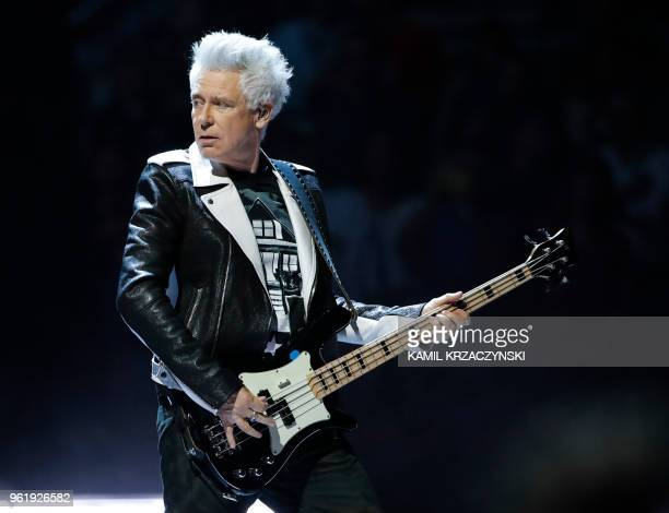 Adam Clayton of the Irish rock band U2 performs during the Experience Innocence tour at the United Center on May 23 2018 in Chicago