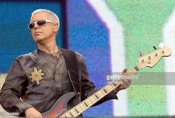 Adam Clayton of U2 during LIVE 8 London Show at Hyde Park in London Great Britain