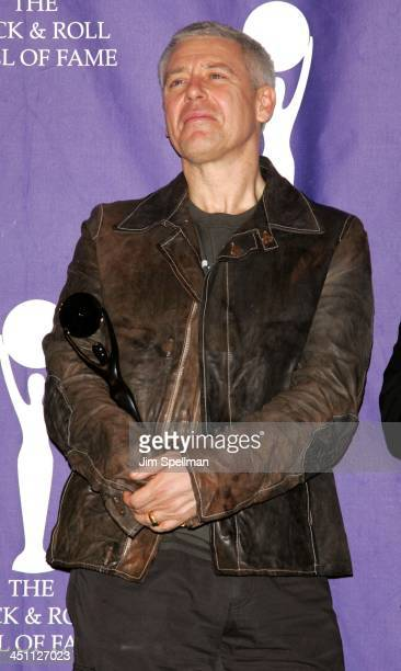 Adam Clayton of U2 inductee during 20th Annual Rock and Roll Hall of Fame Induction Ceremony Press Room at Waldorf Astoria Hotel in New York City New...