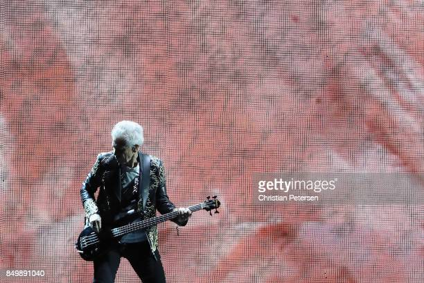Adam Clayton of U2 performs during The Joshua Tree Tour 2017 at University of Phoenix Stadium on September 19 2017 in Glendale Arizona