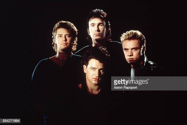 Adam Clayton The Edge Bono and Larry Mullen Jr form the rock band U2
