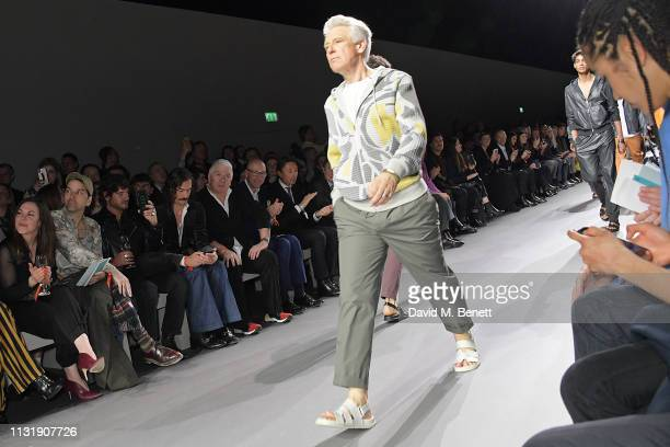 Adam Clayton walks the runway during 'Hermes Step Into The Frame' at Nine Elms on March 21 2019 in London England