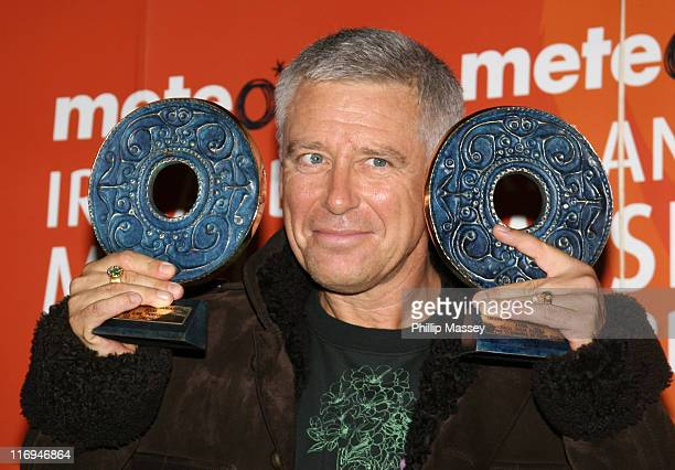 Adam Clayton who collected 3 awards for U2 during Meteor Ireland Music Awards 2006 Press Room at The Point in Dublin Ireland