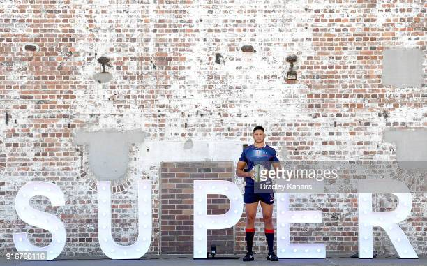 Adam Coleman of the Rebels poses for a photo during the 2018 Super Rugby Season Launch at Brisbane Powerhouse on February 11 2018 in Brisbane...