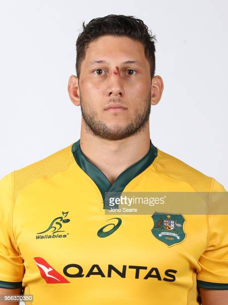 Adam Coleman poses during the Australian Wallabies headshot session on May 7 2018 in Gold Coast Australia