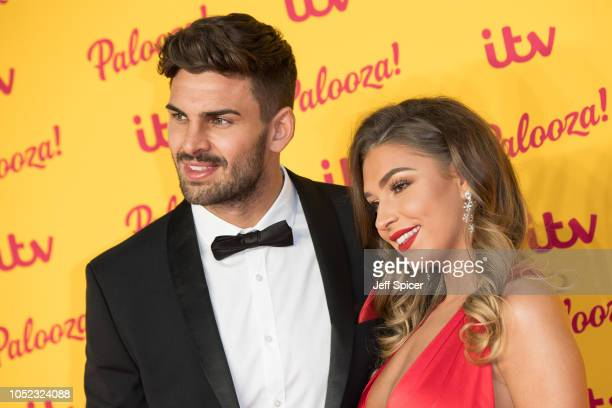 Adam Collard and Zara McDermott attend the ITV Palooza held at The Royal Festival Hall on October 16 2018 in London England