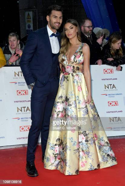 Adam Collard and Zara McDermott attend the National Television Awards held at the O2 Arena on January 22 2019 in London England