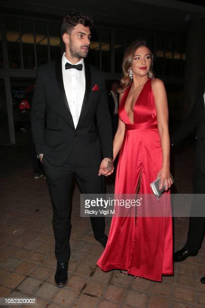Adam Collard and Zara McDermott seen attending ITV Palooza at Royal Festival Hall on October 16 2018 in London England