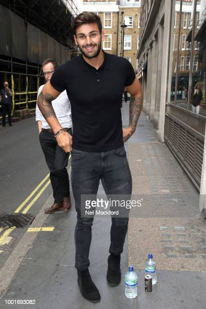 Adam Collard seen arriving at KISS FM UK on July 19 2018 in London England