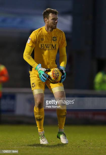 Adam Collin of Carlisle United in action during the Sky Bet League Two match between Northampton Town and Carlisle United at PTS Academy Stadium on...