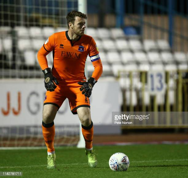 Adam Collin of Carlisle United in action during the Sky Bet League Two match between Carlisle United and Northampton Town at Brunton Park on October...