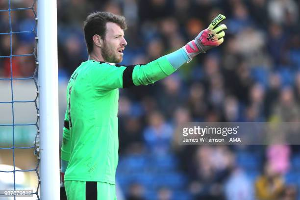 Adam Collin of Notts County during the Sky Bet League Two match between Chesterfield and Notts County at Proact Stadium on March 25 2018 in...