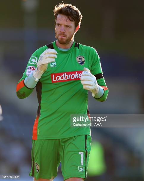 Adam Collin of Notts County during the Sky Bet League Two match between Wycombe Wanderers and Notts County at Adams Park on March 25 2017 in High...