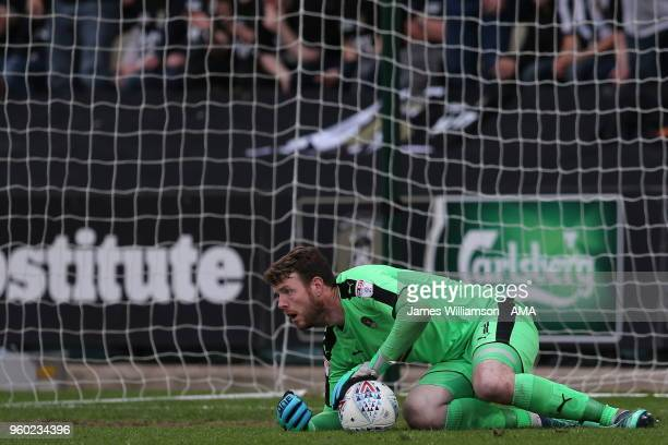 Adam Collin of Notts County during the Sky Bet League Two Play Off Semi FinalSecond Leg between Notts County and Coventry City at Meadow Lane on May...