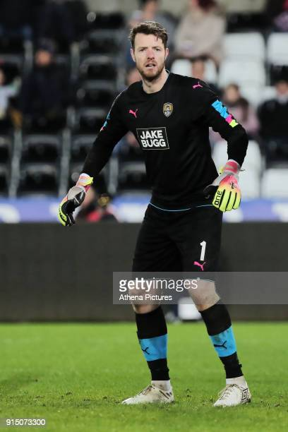 Adam Collin of Notts County in action during The Emirates FA Cup match between Swansea City and Notts County at The Liberty Stadium on February 06...