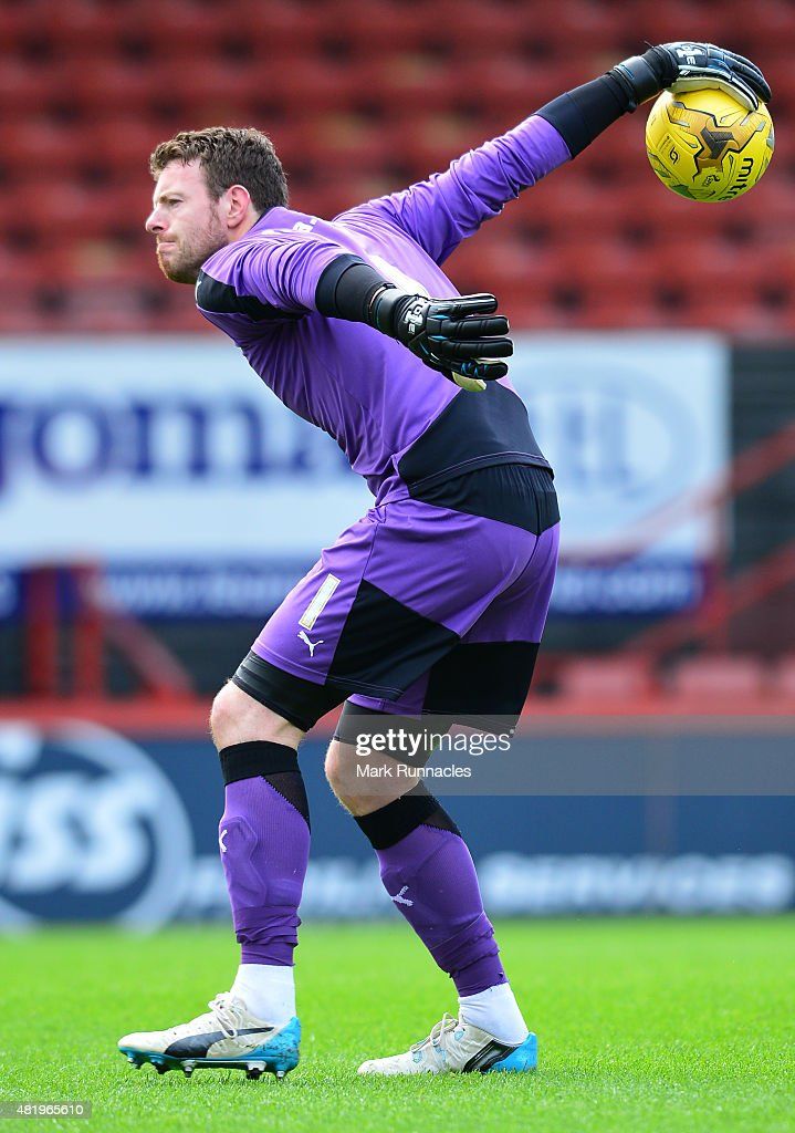 Adam Collin of Rotherham in action during a preseason friendly match between Patrick Thistle FC and Rotherham United at Firhill Stadium on July 25, 2015 in Glasgow, Scotland.