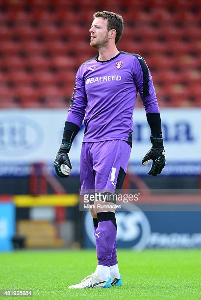 Adam Collin of Rotherham in action during a preseason friendly match between Patrick Thistle FC and Rotherham United at Firhill Stadium on July 25...