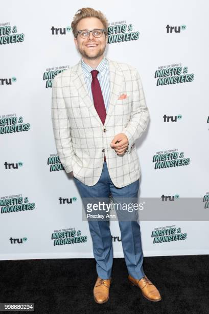 Adam Conover attends the premiere of truTV's 'Bobcat Goldthwait's Misfits Monsters' at Hollywood Roosevelt Hotel on July 11 2018 in Hollywood...