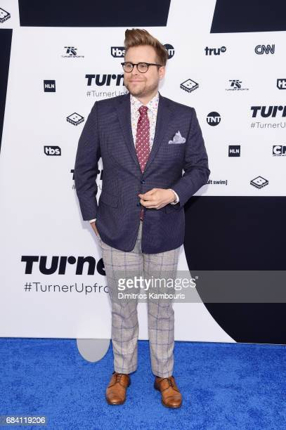Adam Conover attends the Turner Upfront 2017 arrivals on the red carpet at The Theater at Madison Square Garden on May 17 2017 in New York City...