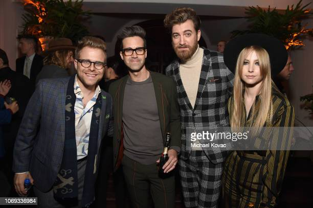 Adam Conover Link Neal Rhett James McLaughlin and Stevie Wynne Levine during the 2018 GQ Men of the Year Party at a private residence on December 6...