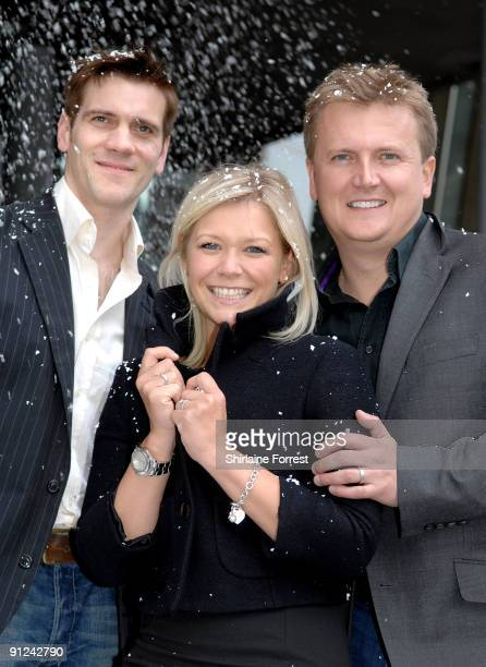 Adam Cooper Suzanne Shaw and Aled Jones attend a photocall to launch White Christmas The Musical at The Lowry on September 29 2009 in Manchester...