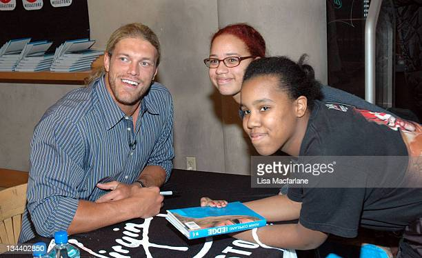 Adam Copeland Edge and fans during WWE's Edge Adam Copeland Signs Copies of his Book On Edge at Virgin Megastore at Virgin Mega Store Union Square in...