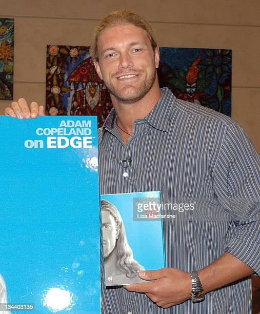 Adam Copeland 'Edge' during WWE's 'Edge' Adam Copeland Signs Copies of his Book 'On Edge' at Virgin Megastore at Virgin Mega Store Union Square in...
