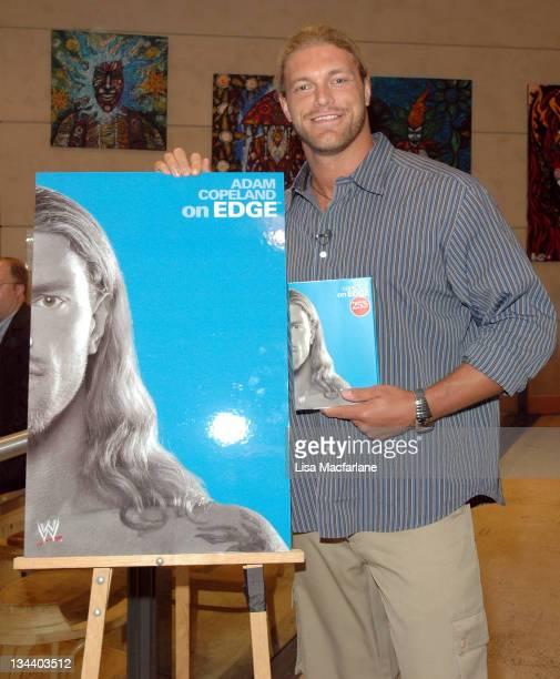 Adam Copeland 'Edge' during WWE's 'Edge' Adam Copeland Signs Copies of his Book 'On Edge' at Virgin Megastore at Virgin Mega Store Union Square in...