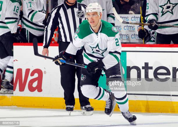 Adam Cracknell of the Dallas Stars in action against the New Jersey Devils on March 26 2017 at Prudential Center in Newark New Jersey The Stars...