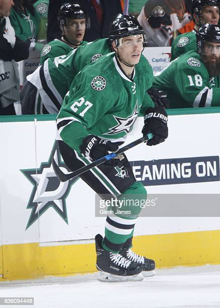 Adam Cracknell of the Dallas Stars skates against the Anaheim Ducks at the American Airlines Center on December 13 2016 in Dallas Texas