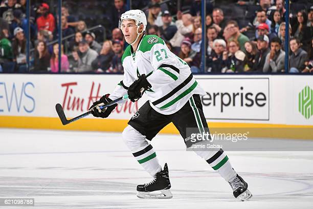 Adam Cracknell of the Dallas Stars skates against the Columbus Blue Jackets on November 1 2016 at Nationwide Arena in Columbus Ohio