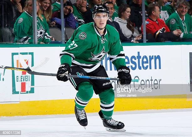 Adam Cracknell of the Dallas Stars skates against the Edmonton Oilers at the American Airlines Center on November 19 2016 in Dallas Texas