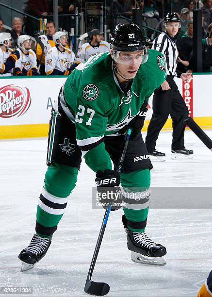 Adam Cracknell of the Dallas Stars skates against the Nashville Predators at the American Airlines Center on December 8 2016 in Dallas Texas