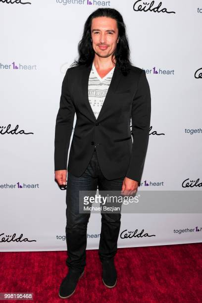 Adam Croasdell arrives at Gilda Garza Presents Kings Queens Art Exhibition in Support of Together1Heart on July 12 2018 in Los Angeles California