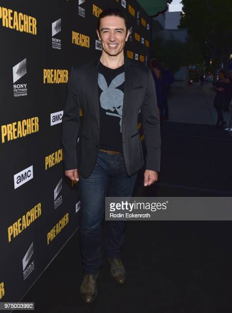 Adam Croasdell arrives at the premiere of AMC's 'Preacher' Season 3 at The Hearth and Hound on June 14 2018 in Los Angeles California