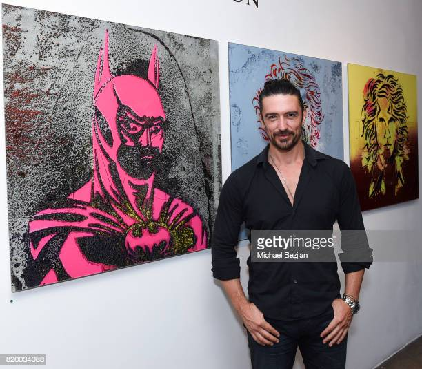 Adam Croasdell arrives at Val Kilmer's PopUp Art Exhibition 'Icon Go On I'll Go On' VIP Opening Reception at The Gabba Gallery on July 20 2017 in Los...