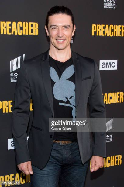 Adam Croasdell arrives for AMC's 'Preacher' season 3 premiere party at The Hearth and Hound on June 14 2018 in Los Angeles California