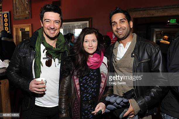 Adam Croasdell Rachel Rath and Cal Mansoor attend the UK Film Party At Sundance 2014 on January 19 2014 in Park City Utah
