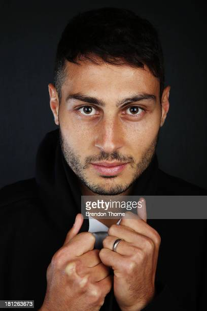 Adam D'Apuzzo poses during a 2013/14 Western Sydney Wanderers ALeague portrait session at Fox Sports Studios on September 20 2013 in Sydney Australia