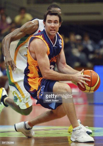 Adam Darragh of the Razorbacks in action during the round one NBL match between the West Sydney Razorbacks and the Townsville Crocodiles at the...