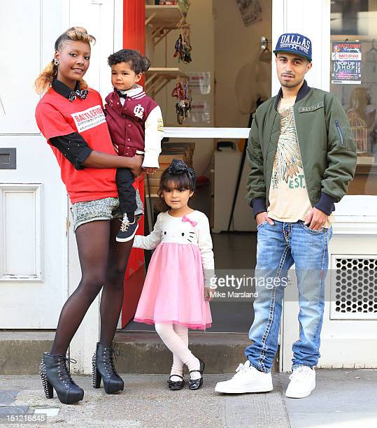 Adam Deacon and Kealy Hatsick attend a photocall to launch the new popup shop by Kealy from Channel 4's Battlefront reality TV show on September 4...