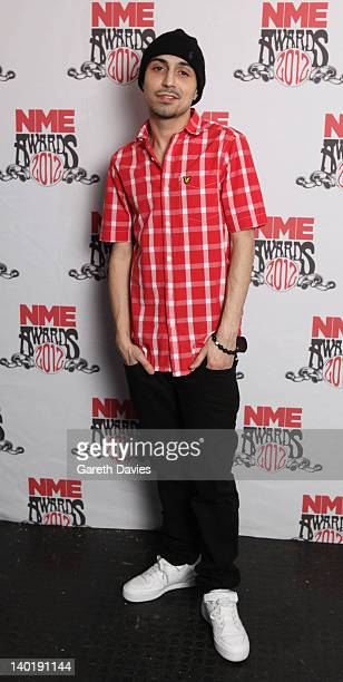 Adam Deacon attends The NME Awards 2012 at The o2 Academy Brixton on February 29 2012 in London England