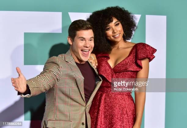 Adam Devine and Alexandra Shipp attend the premiere of Lionsgate's Jexi at Fox Bruin Theatre on October 03 2019 in Los Angeles California
