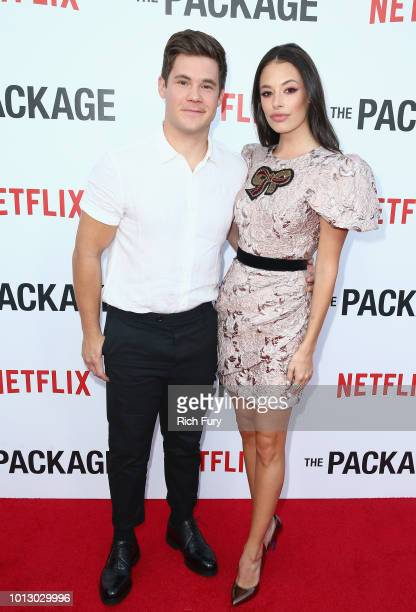 Adam DeVine and Chloe Bridges attend the Los Angeles special screening after party For The Netflix Film The Package at El Cid on August 7 2018 in Los...