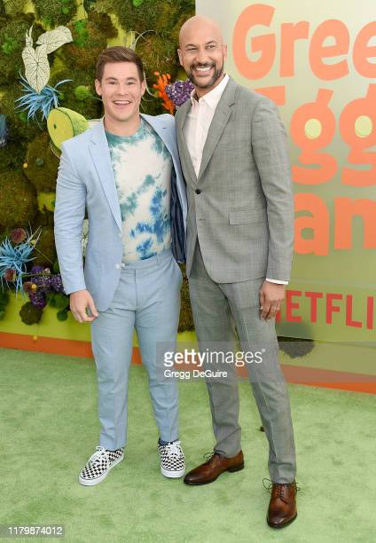 Adam DeVine and KeeganMichael Key arrive at the Premiere Of Netflix's Green Eggs And Ham at Hollywood American Legion on November 3 2019 in Los...