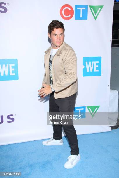 Adam Devine arrives to WE Day Toronto and the WE Carpet at Scotiabank Arena on September 20 2018 in Toronto Canada