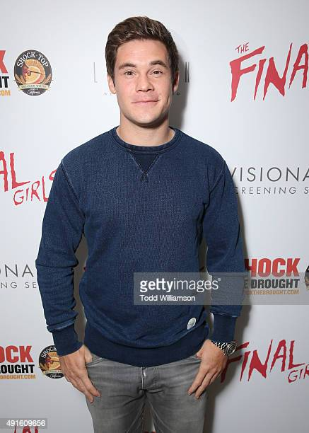 Adam DeVine attends a Visionaire screening of 'The Final Girls' presented by Shock the Drought at The London West Hollywood on October 6 2015 in West...