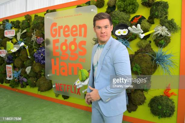 Adam DeVine attends Netflix 'Green Eggs Ham' Los Angeles Premiere at Post 43 on November 03 2019 in Los Angeles California