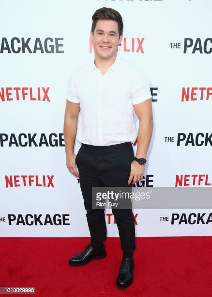 Adam DeVine attends the Los Angeles special screening after party For The Netflix Film The Package at El Cid on August 7 2018 in Los Angeles...