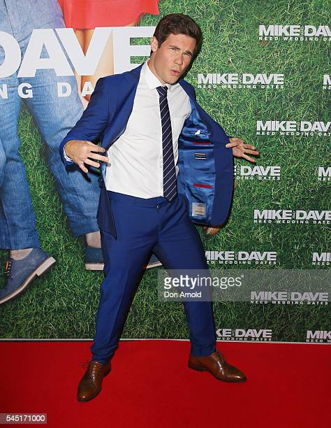 Adam Devine attends the Mike And Dave Need Wedding Dates fan premiere at Event Cinemas Parramatta on July 6 2016 in Sydney Australia